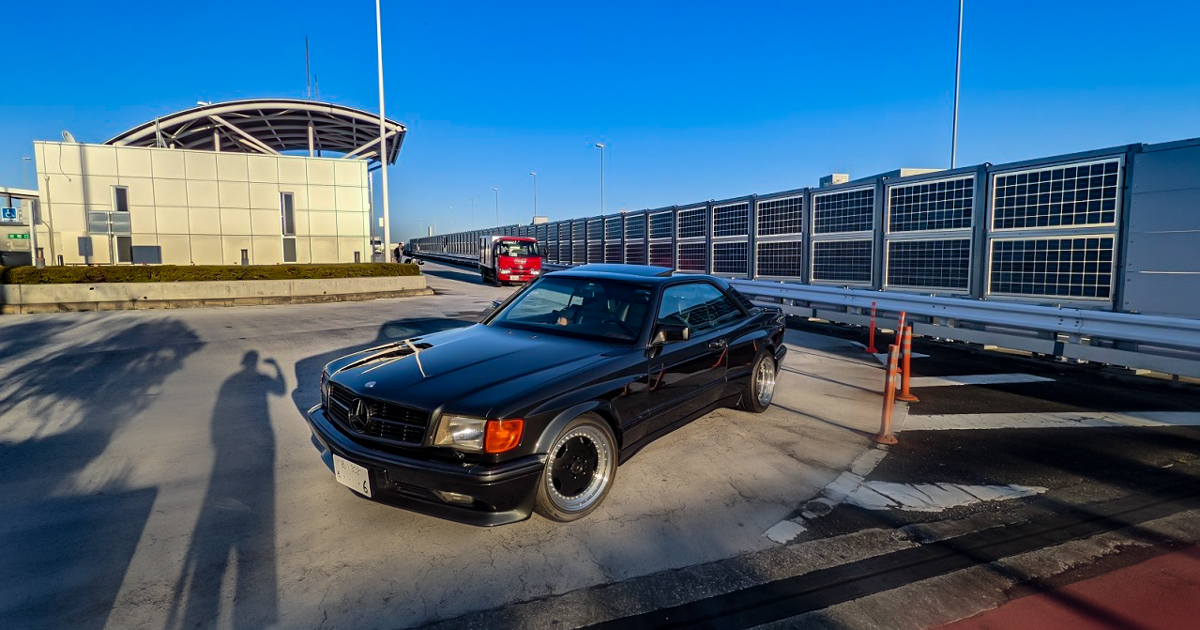 w126 560SEC AMGワイド、ディーラー入庫